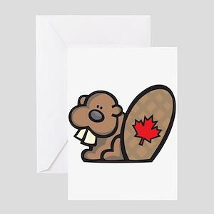 Cute Canadian Beaver Greeting Card