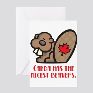 Canada Nicest Beavers Greeting Card