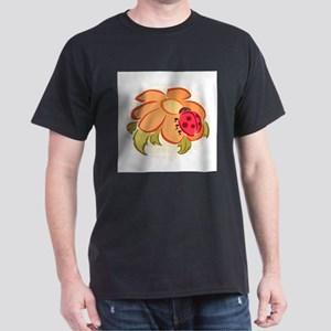 Ladybug and Flower Dark T-Shirt