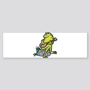 Silly Frog Play Guitar Sticker (Bumper)