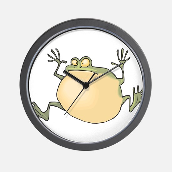 Pot-Belly Frog Wall Clock