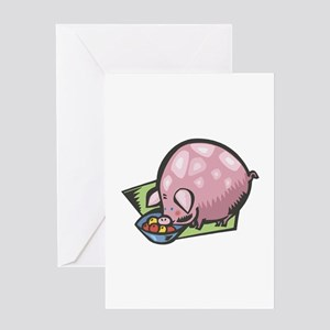 Pot Belly Piggy Greeting Card