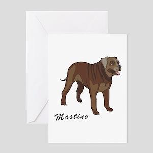 Mastino Greeting Card