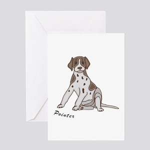 Sitting Pointer Greeting Card