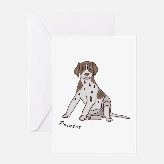 Sitting Pointer Greeting Card