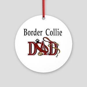Border Collie Dad Ornament (Round)