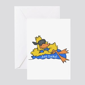 Ducky on a Raft Greeting Card