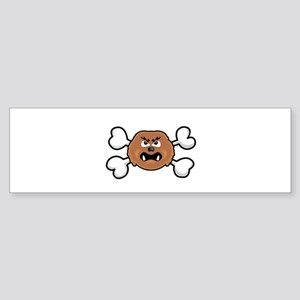Sasquatch Big Foot Crossbones Sticker (Bumper)