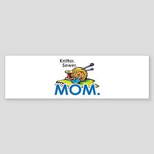 Knitter. Sewer. MOM. Sticker (Bumper)