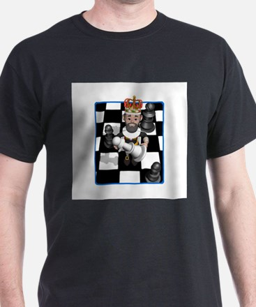 Chess Board with King and Paw T-Shirt