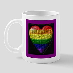 2IMAGE STIPPLED RAINBOW HEART Mug