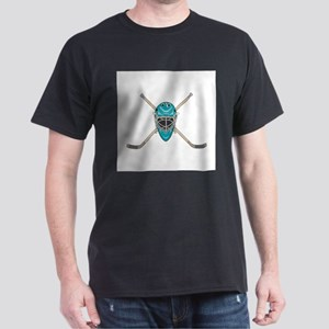 Hockey Goalie Mask and Cross Dark T-Shirt