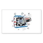 Hockey Puck Break Through Sticker (Rectangle 10 pk