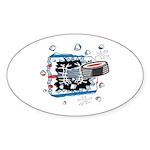 Hockey Puck Break Through Sticker (Oval 50 pk)