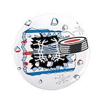 "Hockey Puck Break Through 3.5"" Button (100 pa"