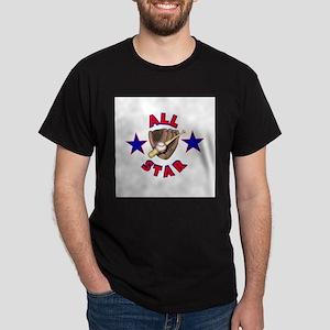 All Star Baseball Design Dark T-Shirt