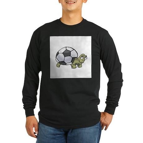 Soccerball Turtle Long Sleeve Dark T-Shirt