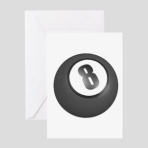 Eight Ball (8 Ball) Greeting Card