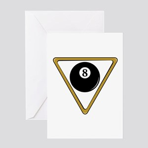Eight Ball and Rack Greeting Card