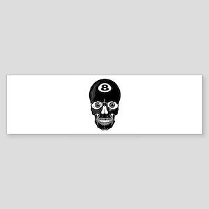 Eight Ball (8 Ball) Skull Sticker (Bumper)