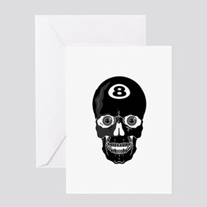 Eight Ball (8 Ball) Skull Greeting Card