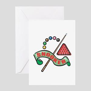 Snooker Pool Design Greeting Card
