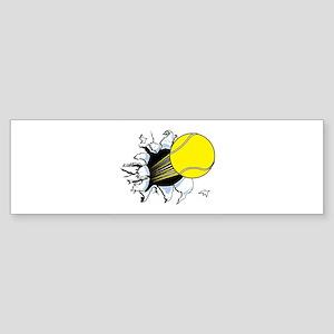 Tennis Ball Ripping Through Sticker (Bumper)