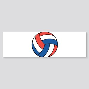 Red, White and Blue Volleybal Sticker (Bumper)