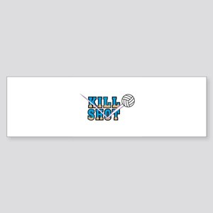 Kill Shot Volleyball Design Sticker (Bumper)