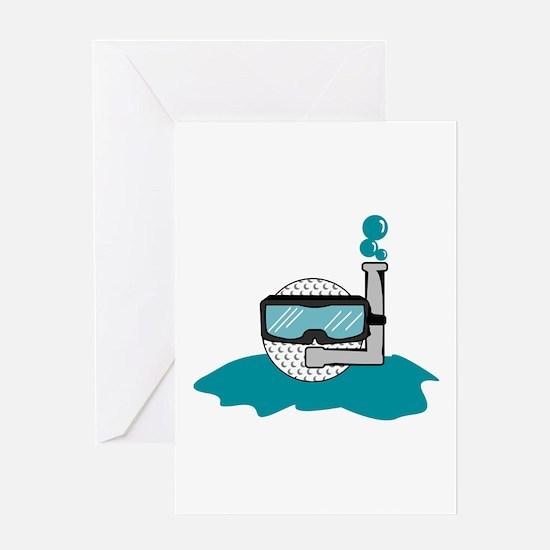 Underwater Golfball Greeting Card