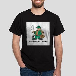 Reel Men Go Fishing Dark T-Shirt