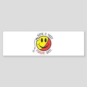 Have a Very Fishin' Day Smile Sticker (Bumper)