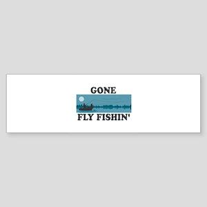 Gone Fly Fishin' Sticker (Bumper)