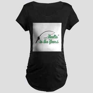 Reelin' in the Years Maternity Dark T-Shirt