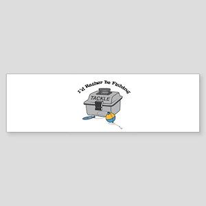 I'd Rather Be Fishing Sticker (Bumper)