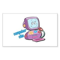 Computer Chic Sticker (Rectangle 50 pk)