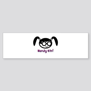 Nerdy Girl Sticker (Bumper)