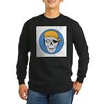 Colored Pirate Skull Long Sleeve Dark T-Shirt