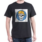 Colored Pirate Skull Dark T-Shirt