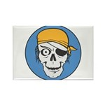 Colored Pirate Skull Rectangle Magnet (100 pack)