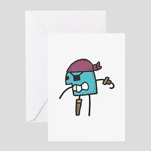 Stick Figure Pirate Greeting Card