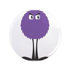 "Cute Fuzzy Purple Monster 3.5"" Button"