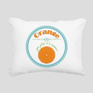 Orange You Glad It's Summer Rectangular Canvas Pil