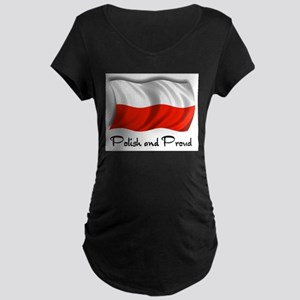 Polish and Proud Maternity Dark T-Shirt