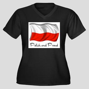 Polish and Proud Women's Plus Size V-Neck Dark T-S