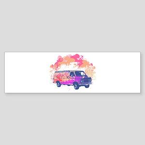 Retro Hippie Van Grunge Style Sticker (Bumper)
