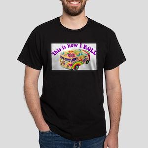 How I Roll Hippie Van Dark T-Shirt