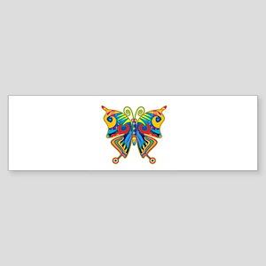 Retro Butterfly Sticker (Bumper)