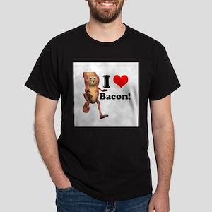 I Heart (Love) Bacon Dark T-Shirt