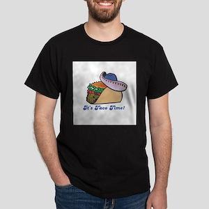 Taco Time (Taco with Sombrero Dark T-Shirt